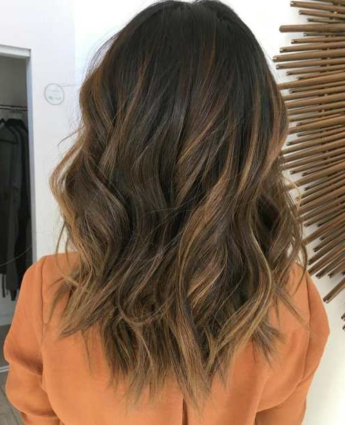 mechas balayage 2018 en morenas moda top online. Black Bedroom Furniture Sets. Home Design Ideas