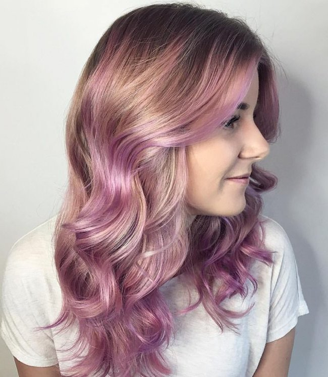 Mechas de color 2018 30 fotos e ideas de moda moda top - Bano de color en mechas ...
