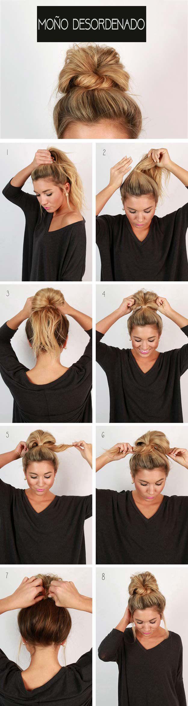 Como hacer un recogido con pelo largo