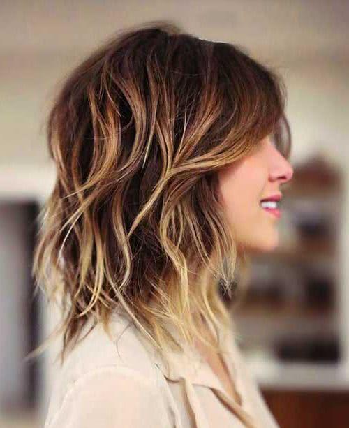 Corte de pelo con capas largas