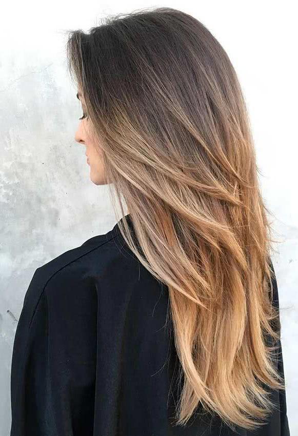 Corte pelo en capas para cabello largo