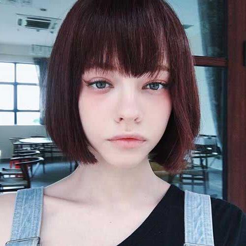 Cortes cabello corto con fleco