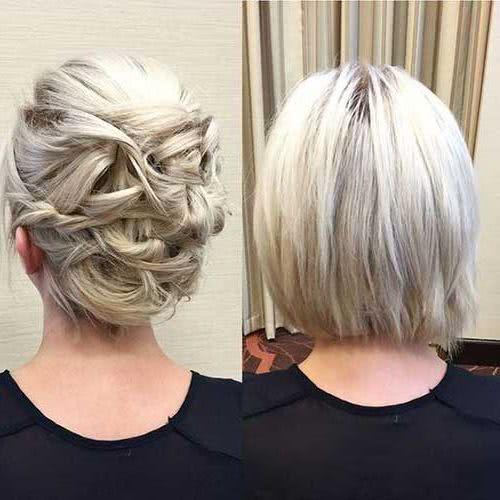 Peinados para cabello corto 2019 2018 moda top online for Recogido bob